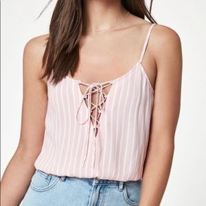 Kendall & Kylie Striped Tank Top